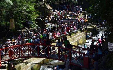 objek wisata air panas guci rusak diterjang lahar dingin