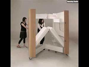 Platzsparende Multifunktionale Möbel : platzsparende m bel rollmodell youtube ~ Michelbontemps.com Haus und Dekorationen