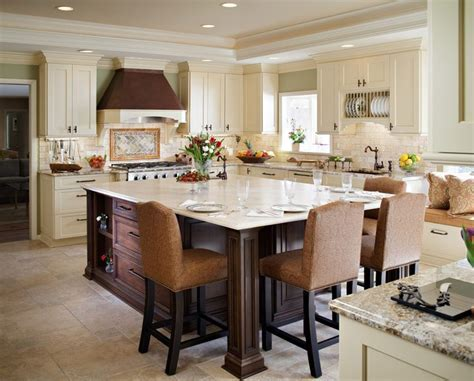 Extending kitchen island to a dining table   http://www