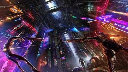 Cyberpunk Neon Futuristic Concept 4k Science Fiction