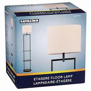 Floor lamp with shelf 60quot black rona for Floor lamp rona