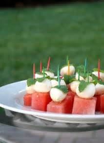 Watermelon Mozzarella Appetizer