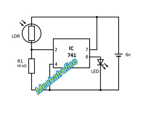 Dark Activated Amp Light Circuit Mechatrofice