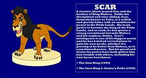 Character Info: Scar (The Lion King) by kylgrv on DeviantArt