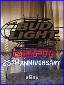 Vintage Bud Light ESPN 25th Anniversary Neon Sign FOR