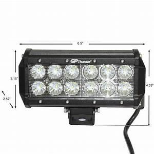 Jeep led flood lights : Pcs in off road w cree led fog lamp work light bar