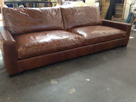 brompton leather sofa 9ft braxton cushion leather sofa in brompton classic 1813