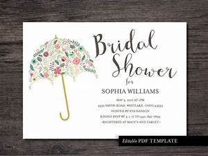 Umbrella bridal shower invitation template bridal by for Wedding shower templates