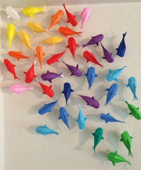 Wall Rainbow Koi How Fold Origami Fish