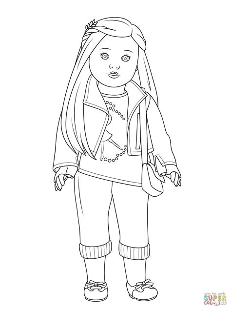 Free Printable American Girl Doll Coloring Pages