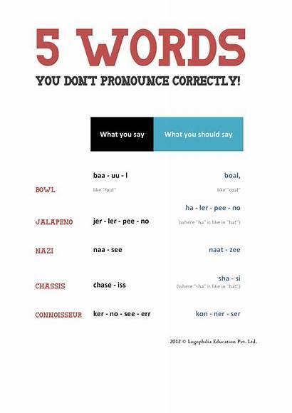 Pronounce Words Logophilia Education Correctly Word Don