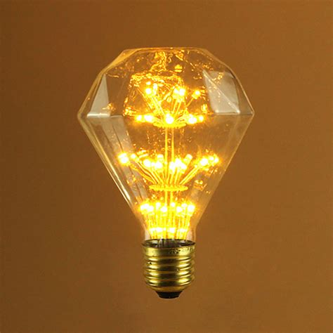 diamond shape led fireworks bulb vintage bulb seming lighting