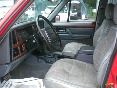 jeep red interior 1995 flame red jeep cherokee country 4x4 15202684 photo