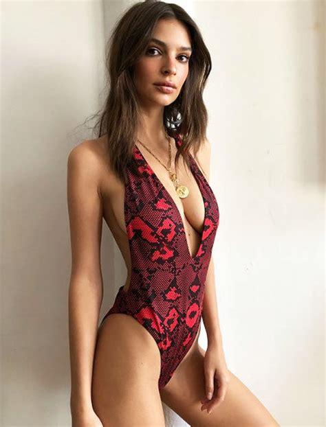 emily rose bikini emily ratajkowski instagram model flaunts derriere and