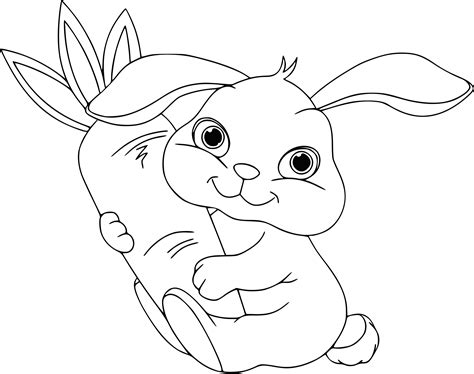 dessin de fille apprendre dessiner un lapin