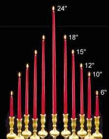 Taper Candle Sizes