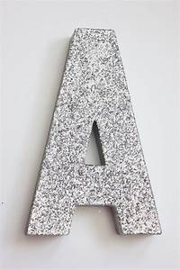 8 glitter letter glittered silver free standing custom With silver standing letters