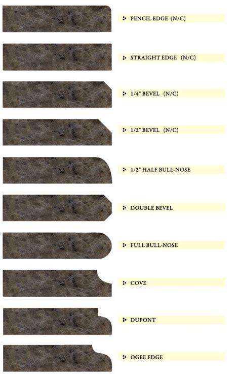 granite counter edge design options design tips