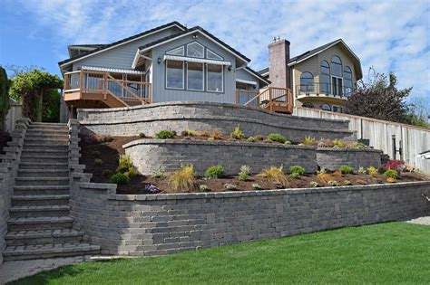 tiered retaining wall  lake lawrence  yelm ajb