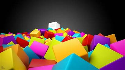 Squares 3d Colorful Wallpapers Cool Background Abstract
