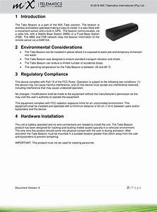 Mix Telematics B59b Tabs Beacon User Manual Xxxx