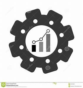 Bar Graph Chart Icon Image Stock Illustration