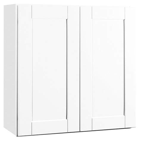 white shaker wall cabinets hton bay shaker assembled 30x30x12 in wall kitchen
