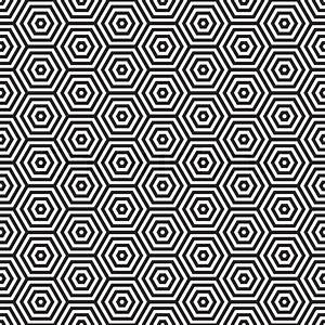 Grafische Muster Schwarz Weiß : siebziger inspiriert sechseck nahtlose muster hintergrund in schwarz und wei stock vektor ~ Bigdaddyawards.com Haus und Dekorationen