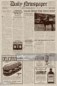 vintage style newspaper design template high res