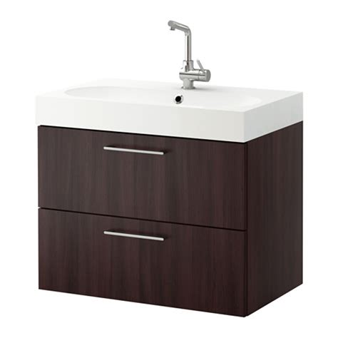 Ikea Sink Cabinet With 2 Drawers by Godmorgon Br 197 Viken Sink Cabinet With 2 Drawers Black