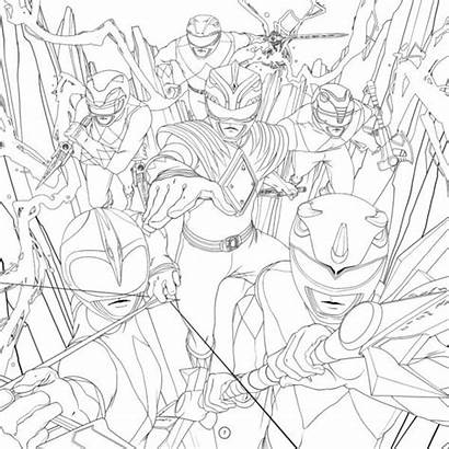 Coloring Adult Rangers Power Mighty Morphin Mmpr