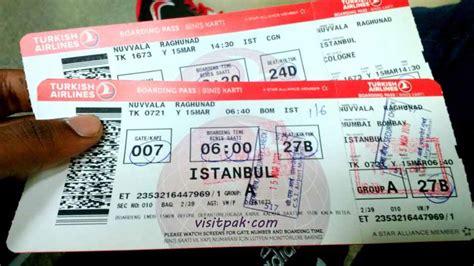 turkish airline tickets - Explore Pakistan