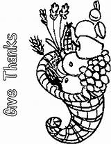 Coloring Thanksgiving Cornucopia Clip Empty Printables Feather Indian Cliparts Printable Popular sketch template