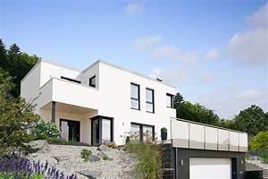 Einfamilienhaus Hanglage Planen : fingerhut haus flachdach bauhausstil hangbebauung ~ Lizthompson.info Haus und Dekorationen