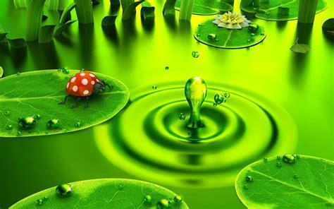 Wallpaper green background - Pond Lilies - Green ...
