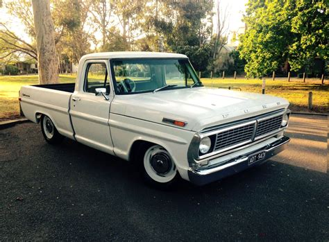 1970 f100 white sportcustom lowered truck c10 muscle