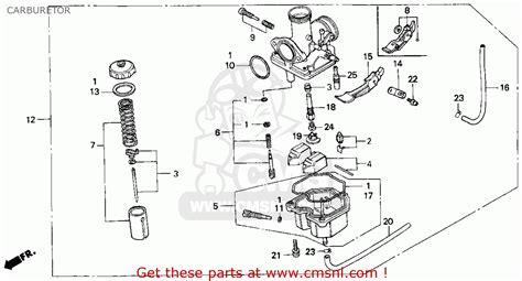 Honda Em6500sx Generator Wiring Schematic by 1994 Honda 300 Carburetor Diagram Wiring Schematic