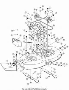 Mtd 13ax605g755  2006  Parts Diagram For Deck Assembly Pto