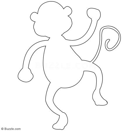 monkey template best photos of monkey outline template monkey hanging outline monkey mask template and