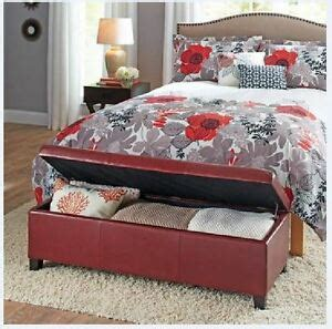 upholstered storage ottoman bench coffee table bedroom furniture new 761193094534 ebay
