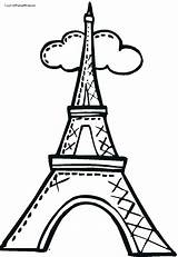 Eiffel Tower Coloring Drawing Pages Easy Cartoon Towers Draw Torre Paris Simple Clip Twin Step Para Clipart Colouring Dibujo Colorear sketch template