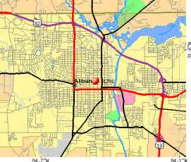 Albany GA Zip Code Map
