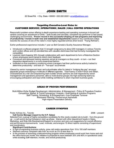 Call Centre Manager Resume by Call Center Resume Template Resume Builder