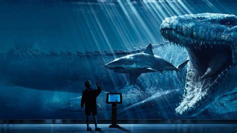 wallpaper jurassic world mosasaurus underwater