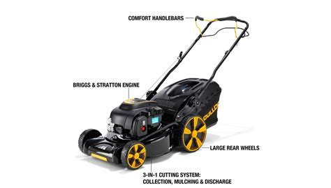 McCulloch M46 140WR Petrol Self Propelled Lawnmower 46cm