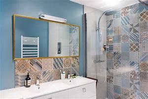 Faience Carreaux De Ciment : meilleur carreaux de ciment avec faience salle de bain ~ Premium-room.com Idées de Décoration