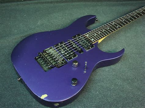 1996 ibanez rg series hsh electric guitar purple finish japan reverb