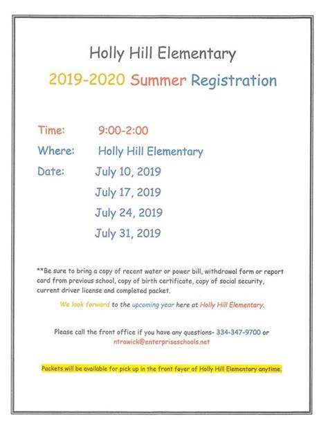 holly hill elementary homepage