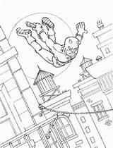 Daredevil Coloring Superheroes Printable Kb sketch template