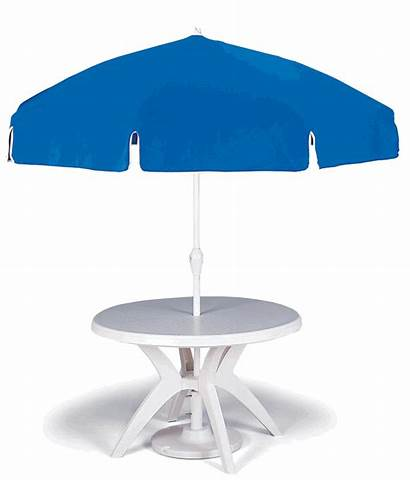 Umbrella Table Outdoor Patio Round Resin Restaurant